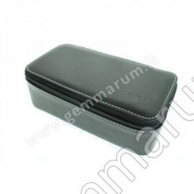 Leather Box for gemstones 18x9x6 cm