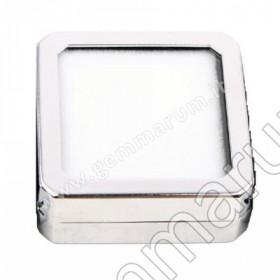Shiny Silver box 4X4x1.5 cm