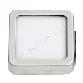 Matt Silver box 4X4x1.5 cm