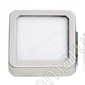 Matt Silver box 5.5X5.5x1.5 cm