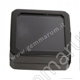 scatolina pietre preziose in metallo e vetro