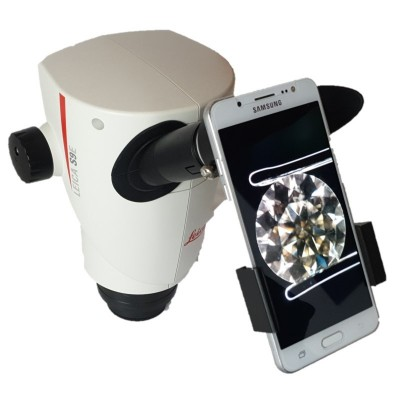 Smartphone adapter for microscope
