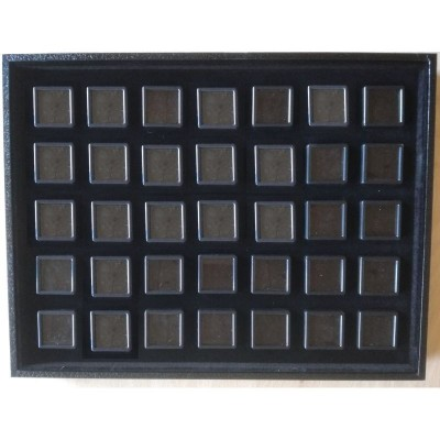 Tray with 35 boxes jewelry gemstone boxes