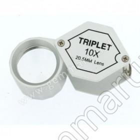 LENTE TRIPLETTA 10X 21 mm