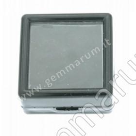 Glasdeckeldose für Edelsteine Goldschmiedebedarf Juwelierbedarf