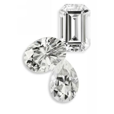 Moissanite in different shapes